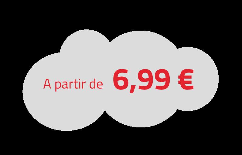 A partir de 6,99€